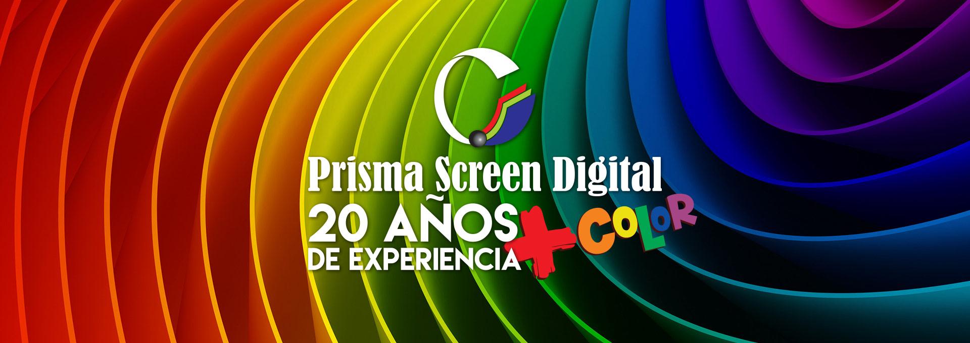 Banner 20 Años de Expriencia - Prisma Screen Digital - Bogotá